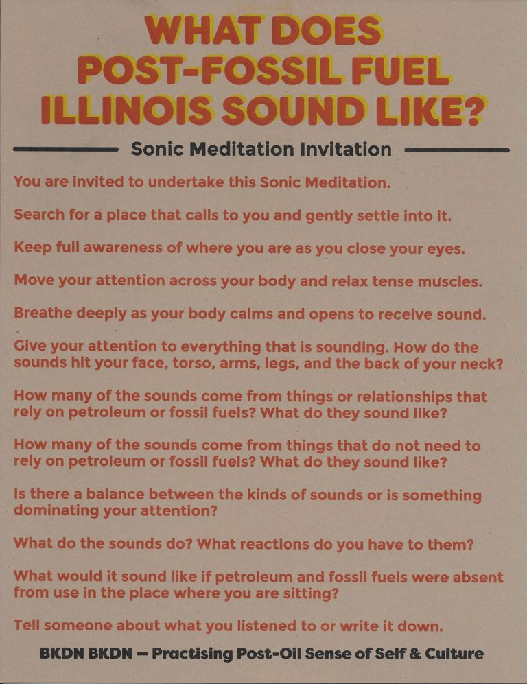 Sonic Meditation: What Does Post-Fossil Fuel Illinois Sound Like?